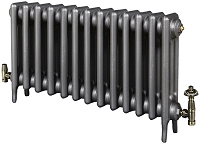 Eastgate Victoriana 3 Column 13 Section Cast Iron Radiator 450mm High x 817mm Wide - Metallic Finish